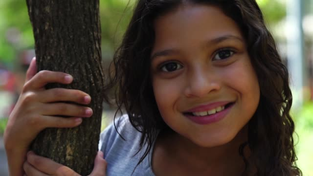 portrait of cute girl - colombian ethnicity stock videos & royalty-free footage