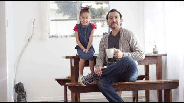 portrait of dad and daughter - single father stock videos & royalty-free footage