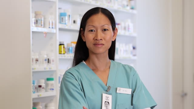MS TU Portrait of Doctor in Hopital Pharmacy / Richmond, Virginia, USA