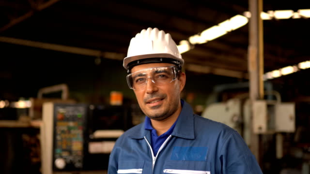 portrait of engineer man posing - construction site stock videos & royalty-free footage