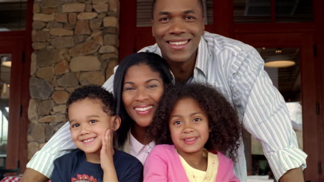 portrait of family smiling at camera - pacific islander portrait stock videos & royalty-free footage
