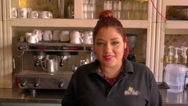 Portrait of female barista