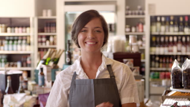 Portrait Of Female Employee In Delicatessen Shot On R3D