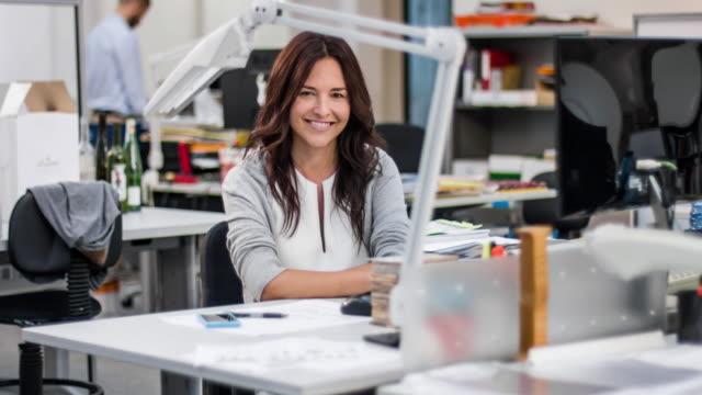Portrait of female industrial designer