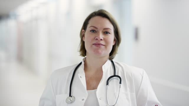 Portrait of female medical expertise at hospital