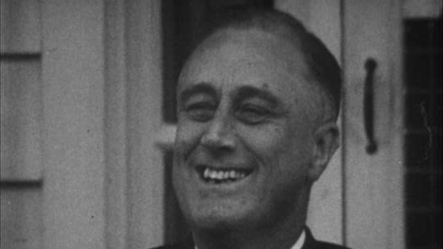 portrait of franklin d roosevelt / usa - 1932 stock-videos und b-roll-filmmaterial