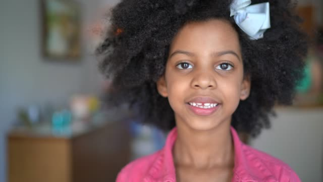 portrait of girl at home - innocence stock videos & royalty-free footage