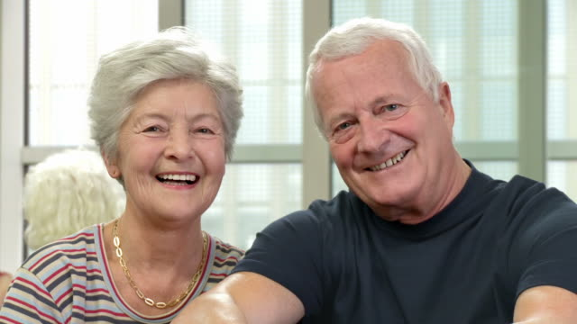 HD DOLLY: Portrait Of Happy Senior Couple