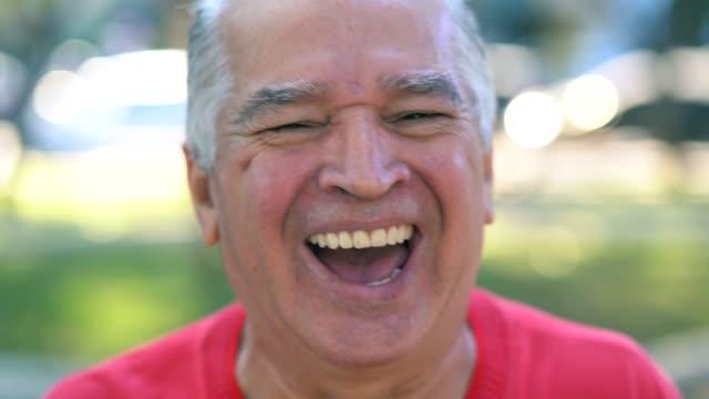 portrait of happy senior man - pardo brazilian stock videos & royalty-free footage