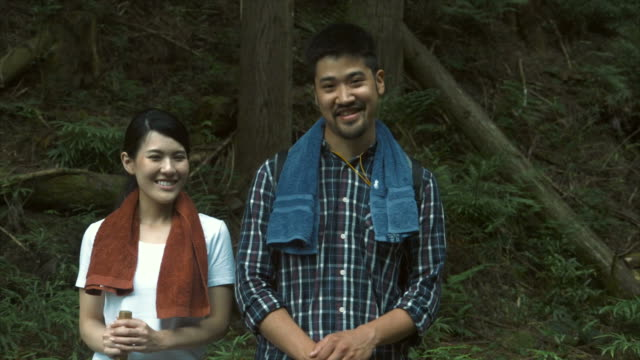 portrait of hikers - lypsekyo16 stock videos and b-roll footage