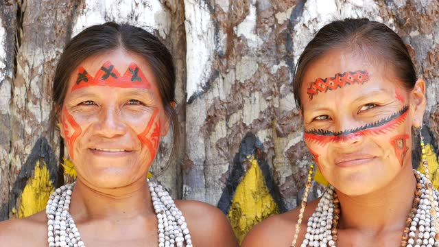 portrait of indigenous women - cultures stock videos & royalty-free footage