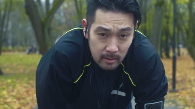 portrait of japanese runner - exhaustion stock videos & royalty-free footage