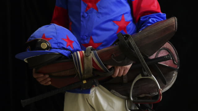 portrait of jockey - saddle stock videos & royalty-free footage
