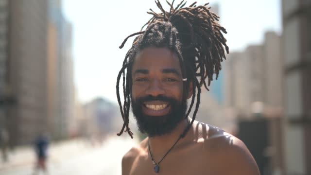 portrait of latino men with dreadlocks - dreadlocks stock videos & royalty-free footage