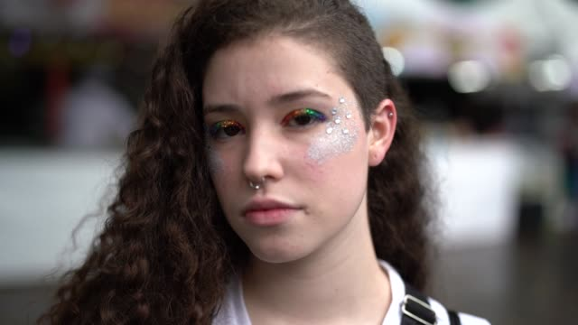 portrait of lesbian young woman - bullying stock videos & royalty-free footage