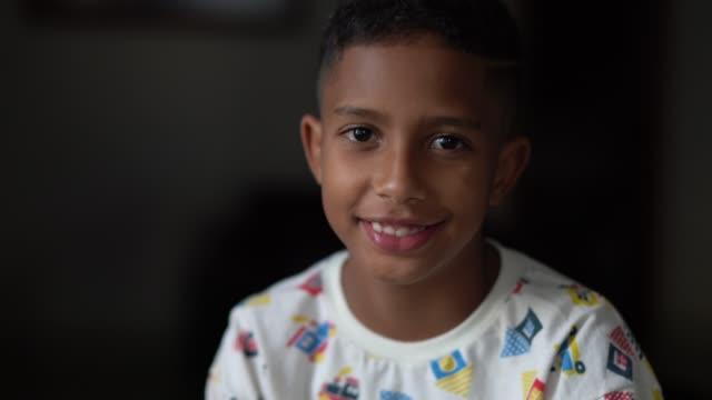 Portrait of Little Cute Boy with pajamas