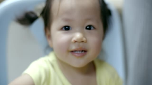 portrait of little girl looking at camera - 12 23 months stock videos & royalty-free footage