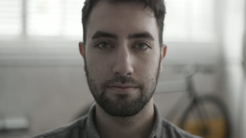 portrait of male creative office worker - one young man only stock videos & royalty-free footage