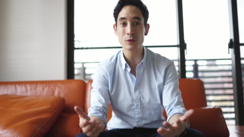 portrait of man while making a speech - businesswear stock videos & royalty-free footage