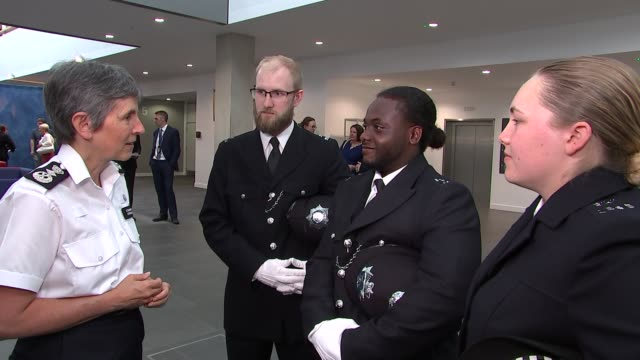 Portrait of Metropolitan Police Commissioner Cressida Dick unveiled at Hendon Police College ENGLAND London Peel Centre INT Various of Cressida Dick...