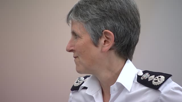 portrait of metropolitan police commissioner cressida dick unveiled at hendon police college uk london portrait of metropolitan police commissioner... - cressida dick stock videos & royalty-free footage