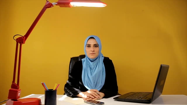 Portrait of modern muslim businesswoman in the office
