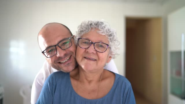 portrait of mother and son at home - honesty stock videos & royalty-free footage