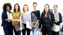 Portrait of multi-ethnic female professionals