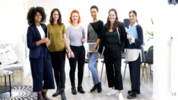 Portrait of multi-ethnic smiling businesswomen