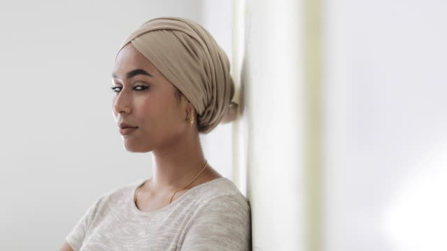 portrait of muslim woman - hijab stock videos & royalty-free footage