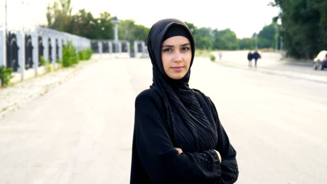 portrait of  muslim women in hijab - middle eastern ethnicity stock videos & royalty-free footage