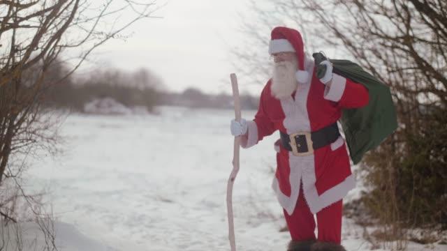 Portrait of Nordic Santa Claus (slow motion)