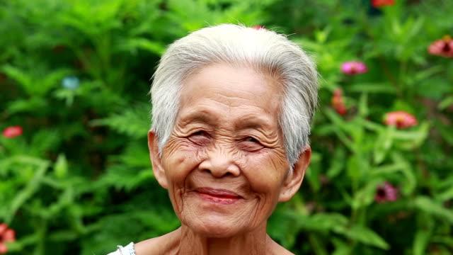 portrait of old asian women - video portrait stock videos & royalty-free footage