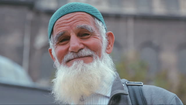 portrait of old muslim man - islam stock videos & royalty-free footage