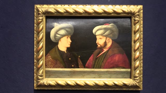 portrait of ottoman sultan mehmed ii, known as fatih sultan mehmet in turkish, will be put up for auction in london on june 25. thought to be drawn... - artistic product stock videos & royalty-free footage