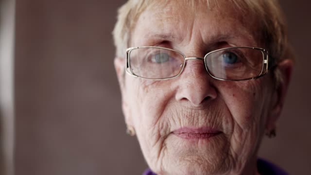 portrait of sad senior woman - senior women stock videos & royalty-free footage