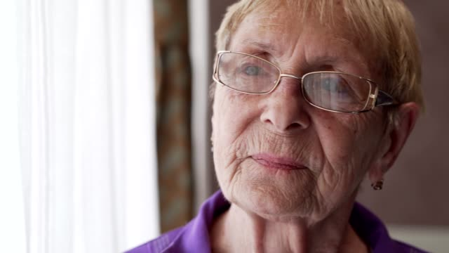 portrait of sad senior woman - disappointment stock videos and b-roll footage