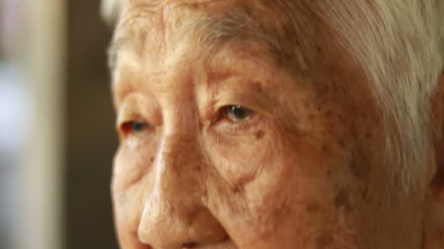 portrait of senior asian woman, thai ethnicity - thai ethnicity stock videos & royalty-free footage