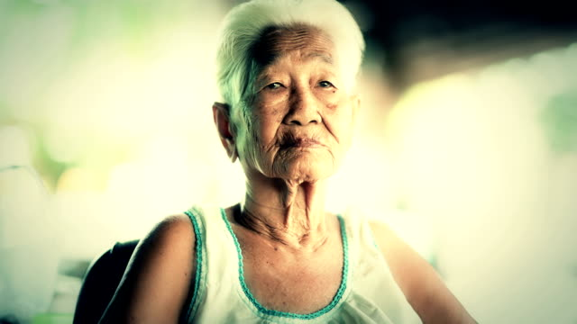 Portrait of senior Asian woman