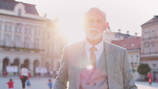 portrait of senior businessman - serious stock videos & royalty-free footage