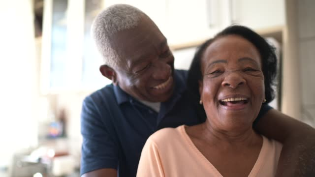 portrait of senior couple at home - wife stock videos & royalty-free footage