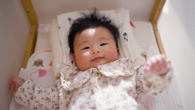 portrait of small baby - babies only stock videos & royalty-free footage