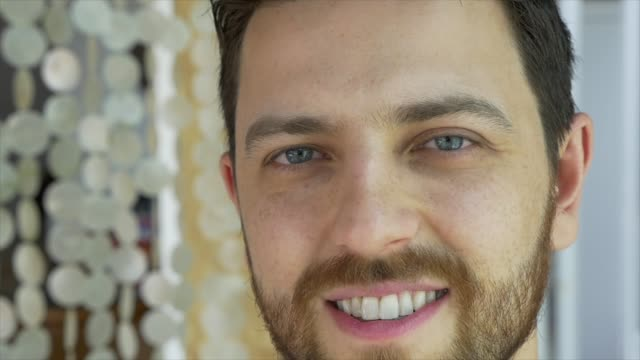 portrait of smiling handsome man - blue eyes stock videos & royalty-free footage