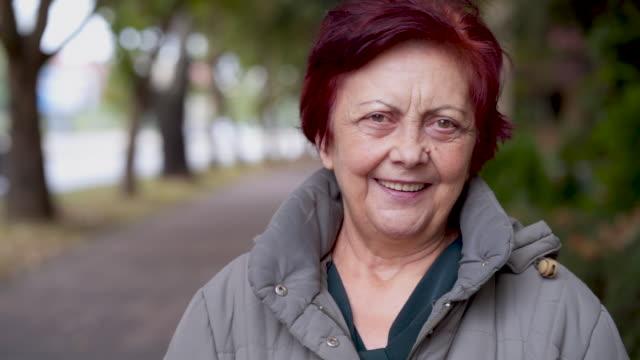 portrait of smiling senior woman - headshot stock videos & royalty-free footage