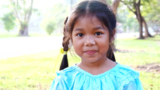 portrait of smiling thailand girl. - respect stock videos and b-roll footage