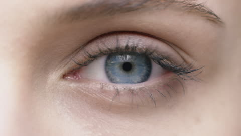 portrait of smiling woman with blue eyes - eyelash stock videos & royalty-free footage