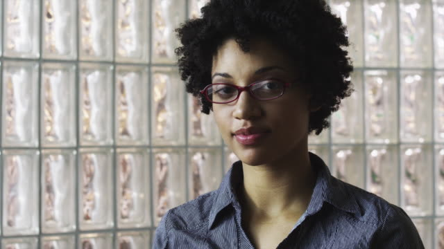 cu zi portrait of smiling young woman / orem, utah, usa - orem utah stock videos & royalty-free footage