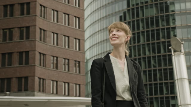 portrait of successful businesswoman in berlin - human role stock videos & royalty-free footage