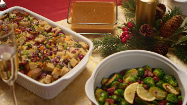 portrait of the christmas table - turkey stock videos and b-roll footage