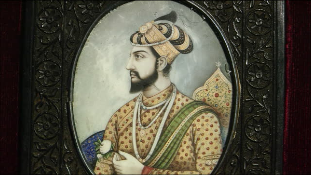 portrait of the fifth emperor of mughal empire shah jahan - mughal empire stock videos and b-roll footage